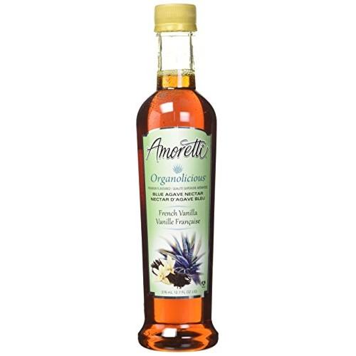 Amoretti Premium Organolicious Flavored Blue Agave Nectar, Frenc...