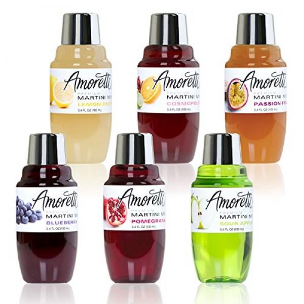Amoretti Premium Martini Cocktail Mix Minis, Wild Strawberry, 3....