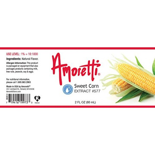Amoretti Sweet Corn Extract, 2 Ounce