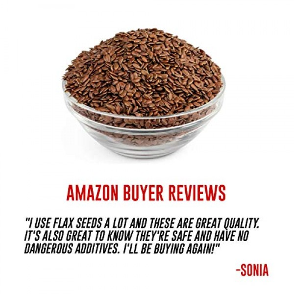Amrita Foods - Flax Seeds, 2 lbs - Gluten-Free, Dairy-Free, Soy-...