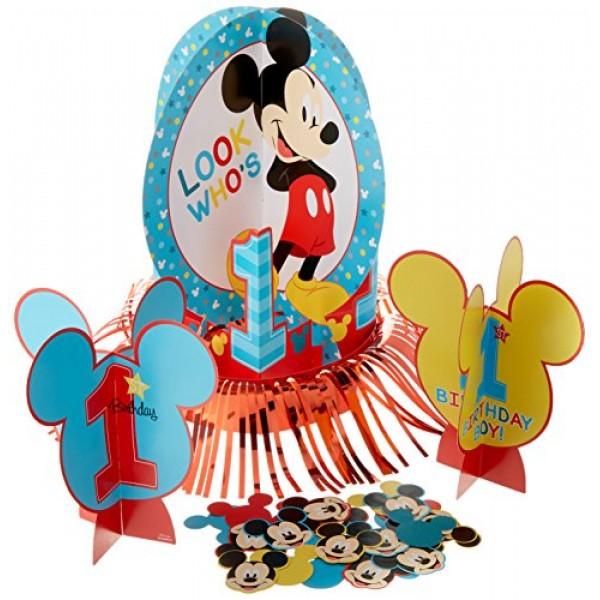 amscan 281833 Disney Mickeys Fun to be One Table Decorating Kit...