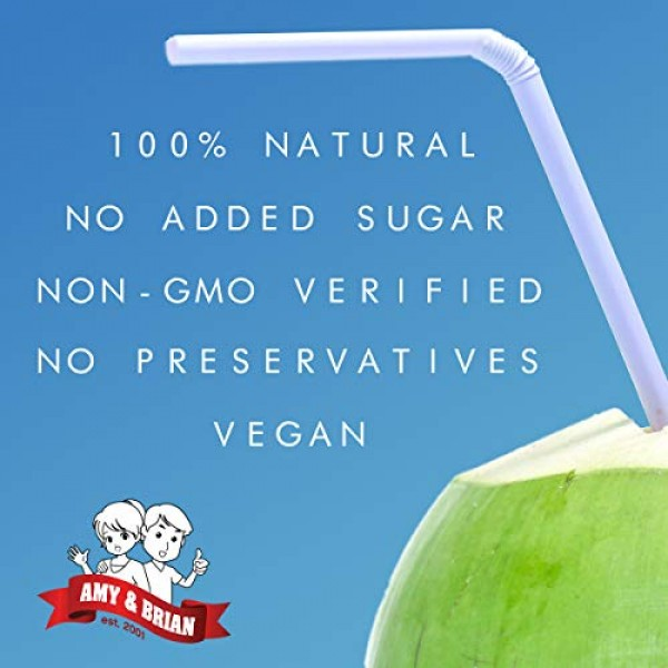 Amy & Brian Non-GMO Coconut Water, 1 Liter Pack of 6 | Best Ta...