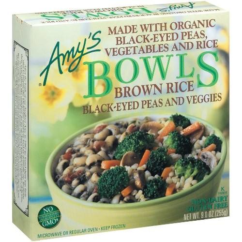 Amys Black Eye Pea & Vegetable Bowl Organic, 9-Ounce Boxes Pac...