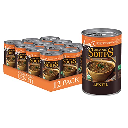 Amys Organic Soups, Light in Sodium Lentil, 14.5 Ounce Pack of...
