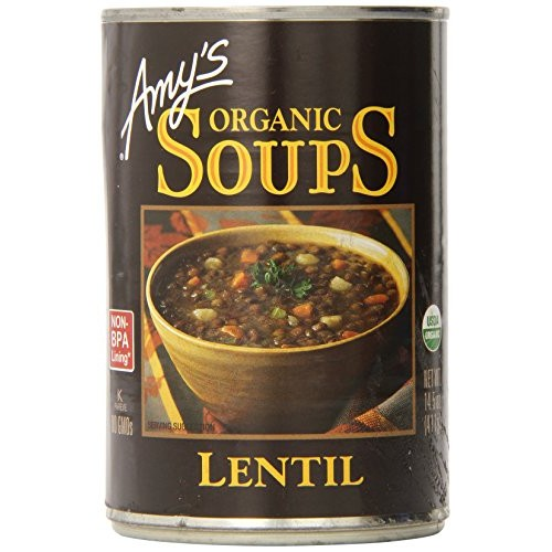 Amys Organic Soups, Lentil, 14.5 Ounce Pack of 6