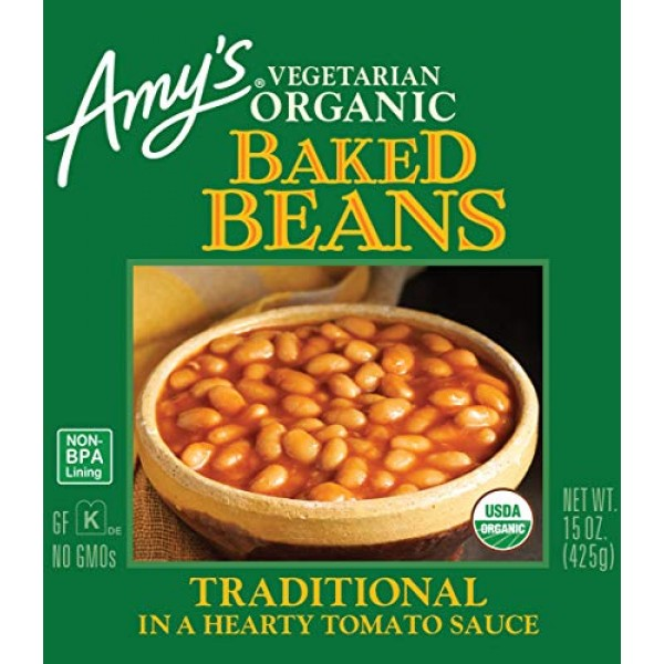 Amys Organic Beans, Baked Beans in a Hearty Tomato Sauce, 15 Ou...