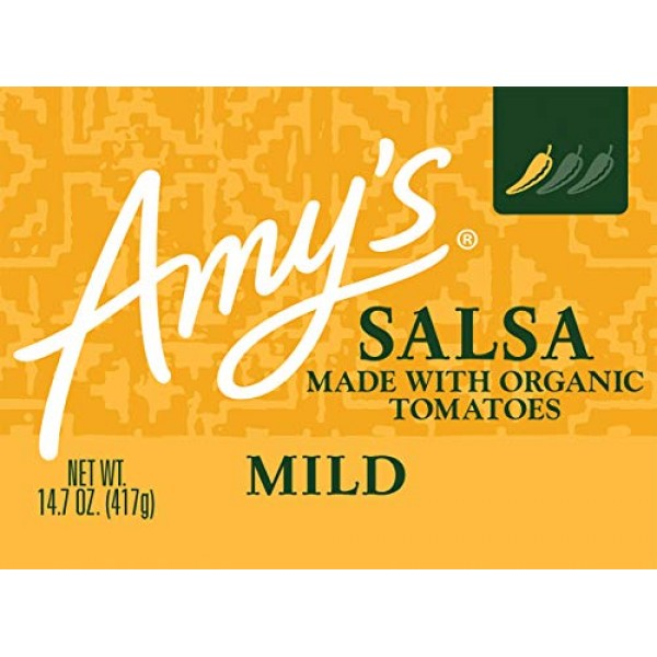 Amys Organic Salsa, Fat Free Tomato, Mild, 14.7 Ounce