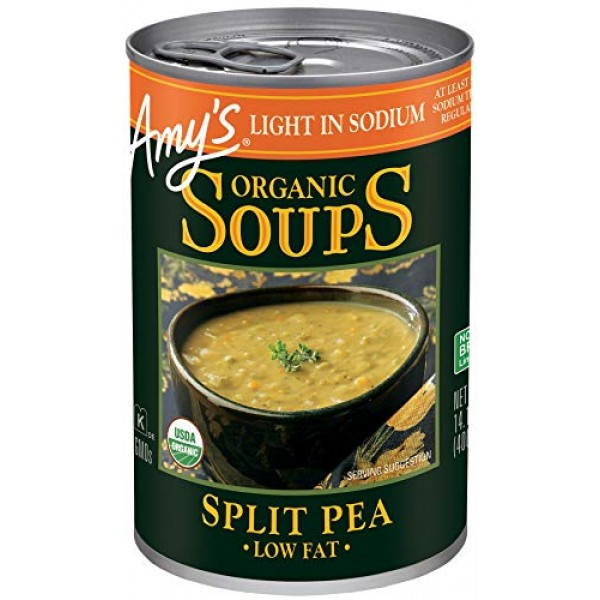 Amys Organic Soups, Light in Sodium Split Pea, 14.1 Ounce Pack...