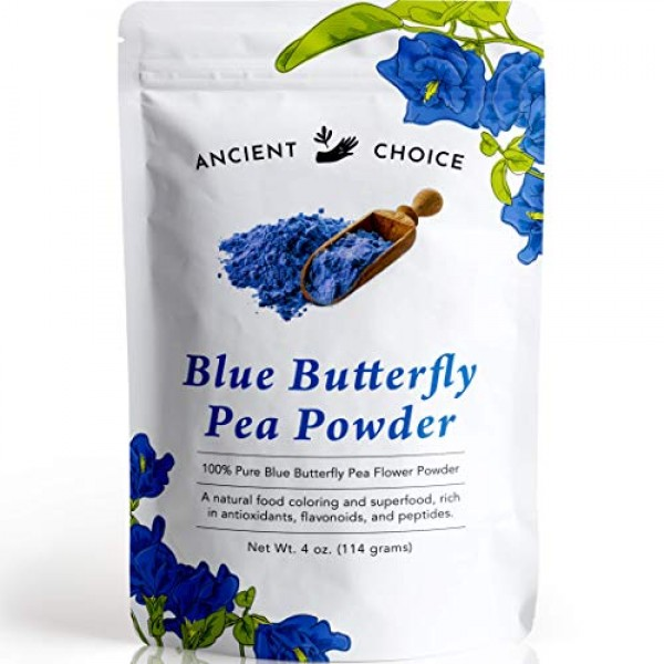 Ancient Choice - Butterfly Pea Flower Powder 4 ounce | Blue Ma...