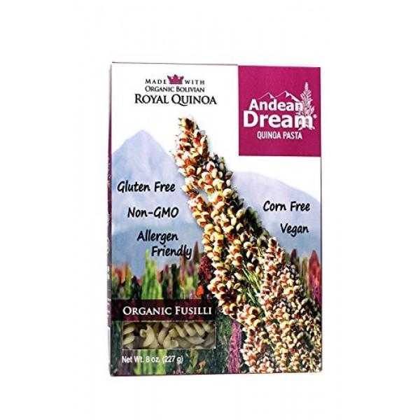Andean Dream Fusilli Quinoa Pasta Gluten Free 3x8 Oz