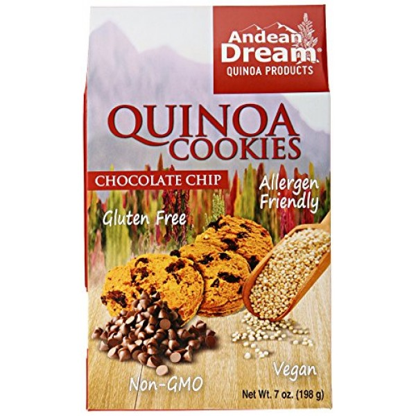 Andean Dream Chocolate Chip Quinoa Cookies, Gluten Free, 7 oz