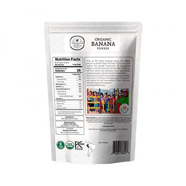 Andean Star Organic Banana Powder -1lb- Fresh Pure Raw Powdered ...