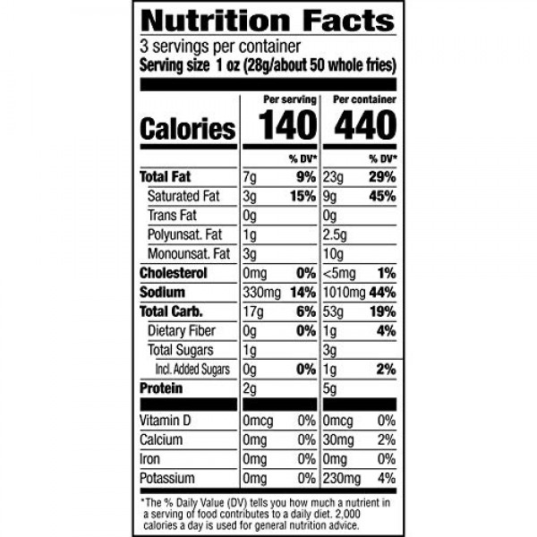 Andy Capps Ranch Fries Snacks, 3-oz Bag Pack of 12