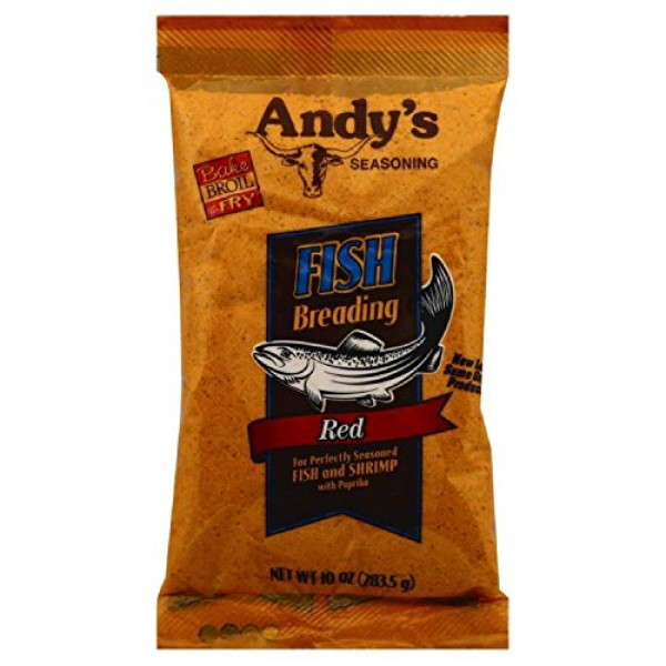 Andys Breading Fish Red, 10 oz