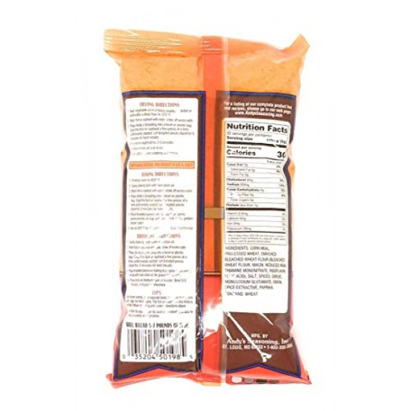 Andys Cajun Fish Breading Pack of 3