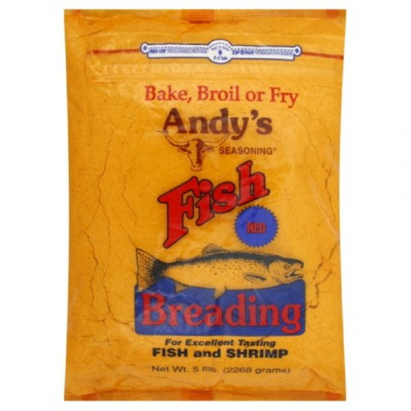 Andys Red Fish Breading, 5-pounds