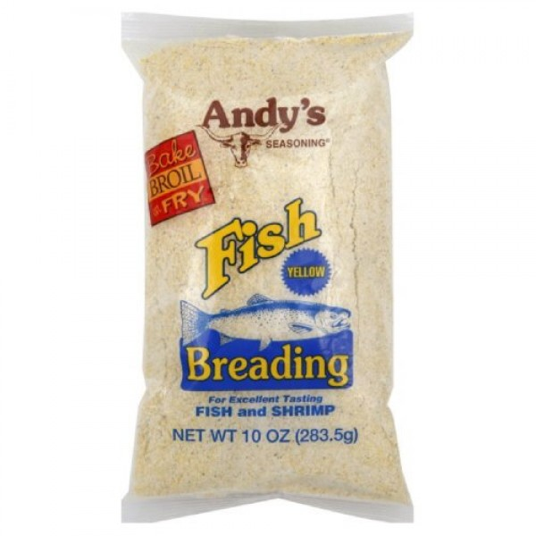 Andys Seasoning Yellow Fish Breading 10ozPack of 2