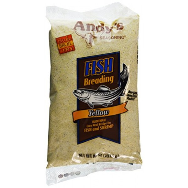 Andys Seasoning Yellow Fish Breading 10ozPack of 3