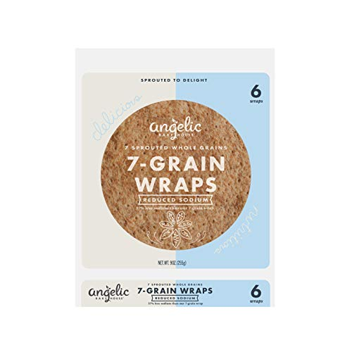 Angelic Bakehouse Reduced Sodium Wraps – 9 Ounce, Pack of 12 - S...