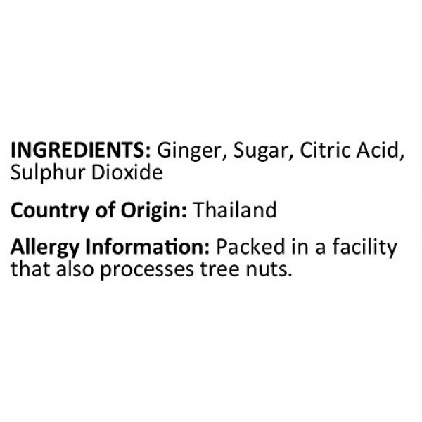 Anna and Sarah Dried Crystallized Ginger in Resealable Bag, 1 Lb