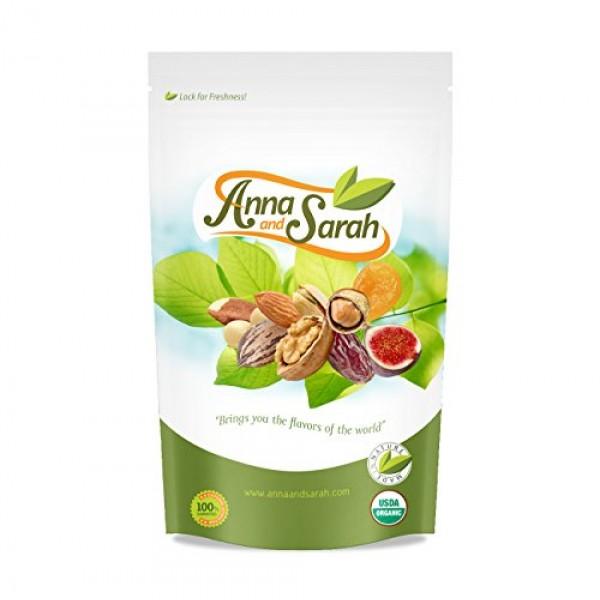 Anna and Sarah Organic Raw Pecan Halves 2 Lbs in Resealable Bag