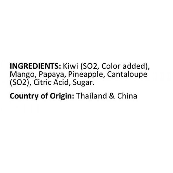 Anna and Sarah Tropical Dried Fruit Salad Mix in Resealable Bag,...