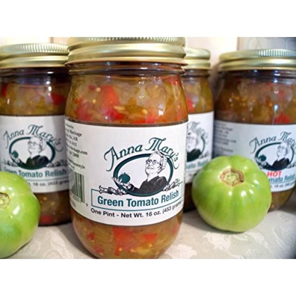 Anna Marys Green Tomato Relish 2 Jars