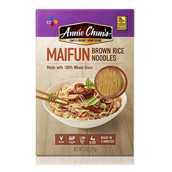 Annie Chuns Brown Rice Noodles, Maifun | Vegan, 8-oz Pack of 6...