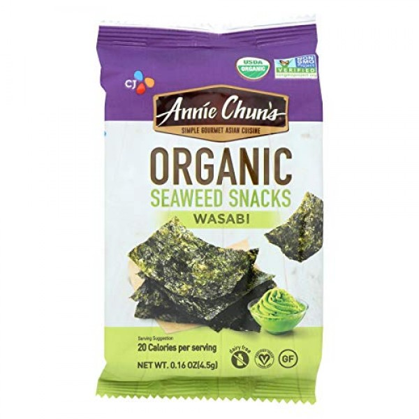 ANNIE CHUNS, Seaweed Snk, Og2, Wasabi, Pack of 12, Size .16 OZ,...
