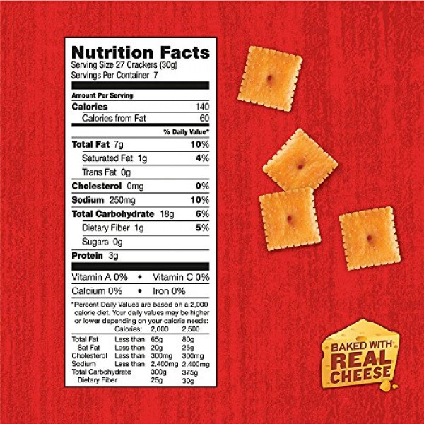 Annies Cheddar Squares, Baked Cheese Crackers, 7.5 Oz Box