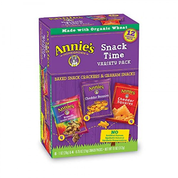 Annies Variety Snack Pack, Cheddar Bunnies/Friends Bunny Graham...