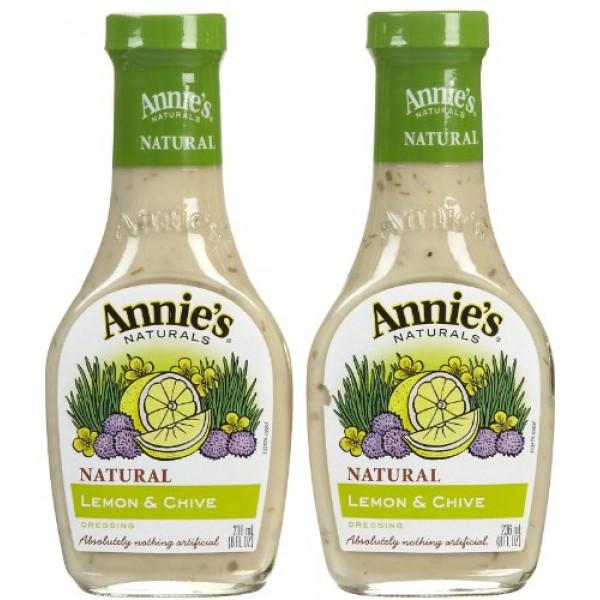 Annies Homegrown Lemon & Chive Dressing No Vinegar - 8 oz - 2 pk
