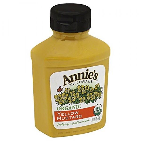 Annies Homegrown Organic Yellow Mustard, 9 oz, 2 pk