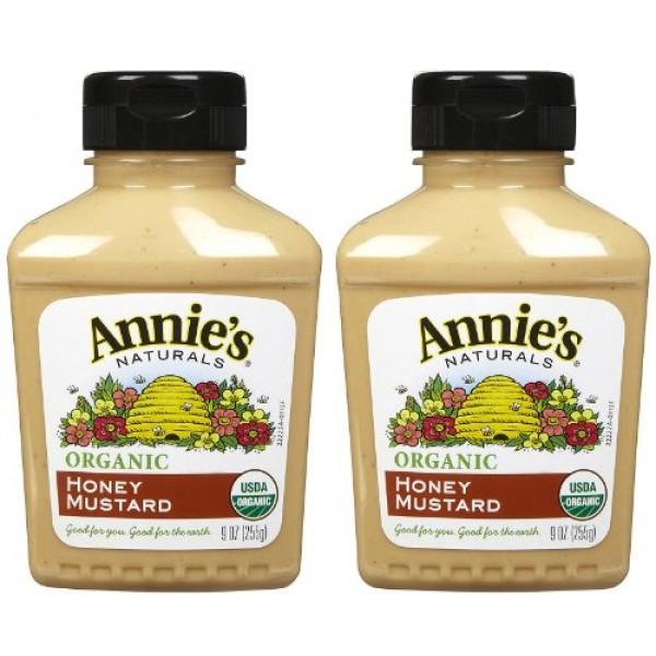 Annies Homegrown Organic Honey Mustard, 9 oz, 2 pk