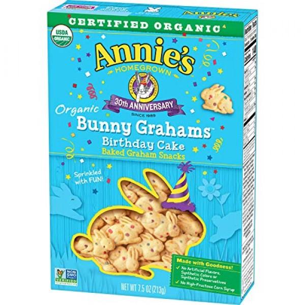 Annies Homegrown Certified Organic Bunny Grahams Birthday Cake,...
