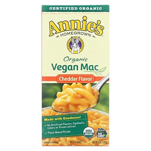 ANNIES HOMEGROWN, Mac&Chs, Og2, Vgn, Ched Flav, Pack of 12, Siz...