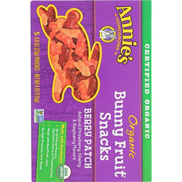 Annies Homegrown Organic Bunny Fruit Snacks Berry Patch -- 4 oz...