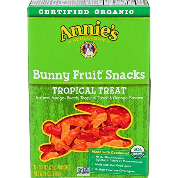 Annies Homegrown - Organic Bunny Fruit Snacks Tropical Treat - ...