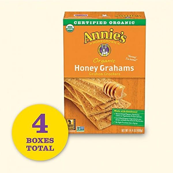 Annies Organic Honey Graham Crackers Pack of 4