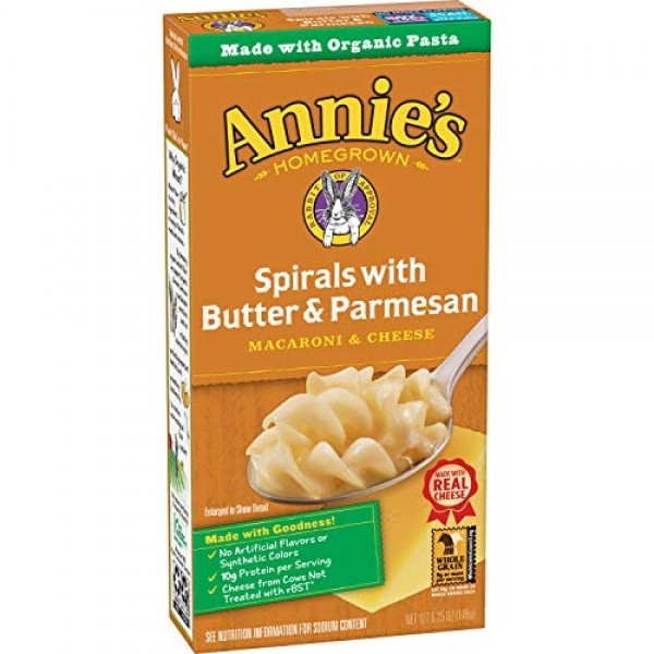 Annies Spirals With Butter & Parmesan Macaroni and Cheese, Natu...
