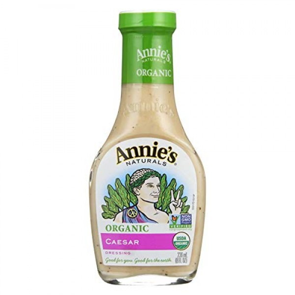 Annies Naturals Dressing, Organic, Caesar, 8-Ounce Pack of 6