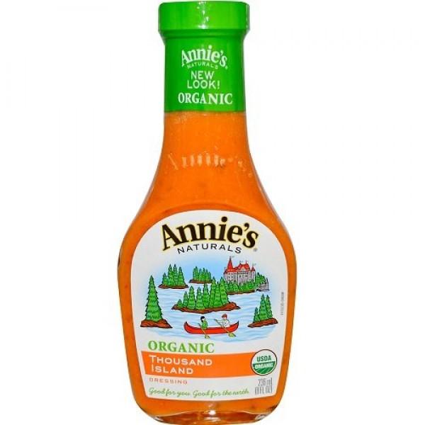 Annies Naturals Dressing, Organic, Thousand Island, 8-Ounce Pa...