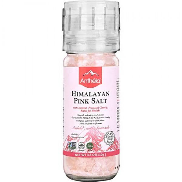 Anthela Himalayan Pink Salt, Coarse Grain Mini Mill 3.8oz, Premi...
