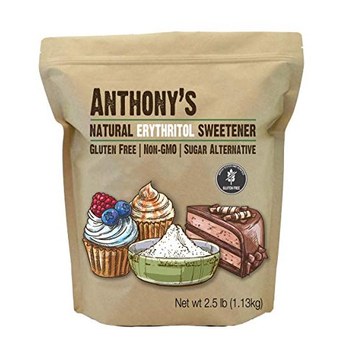Anthonys Erythritol Granules, 2.5lbs, Non GMO, Natural Sweetene...