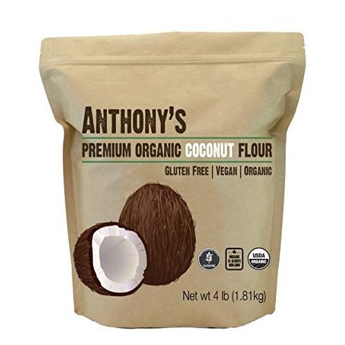 Anthony's Organic Coconut Flour, 4 lb, Batch Tested Gluten Free,...
