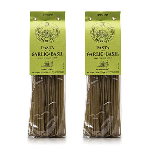 Morelli Pasta Garlic and Basil Linguine - Imported Pasta from It...