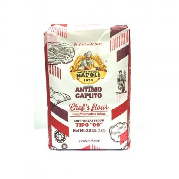 Antico Molino Napoli Antimo Caputo 00 Flour 2.2 Lb Pack of 4