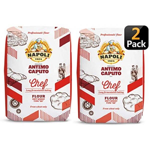 Antimo Caputo Chefs Flour 2.2 LB Pack of 2 - Italian Double Ze...