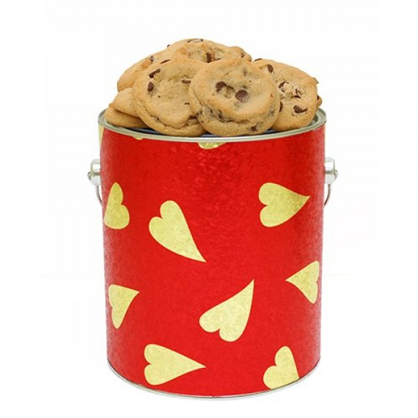 Hearts of Love Cookie Gallon Tin Fresh Baked Cookies by Apple Co...