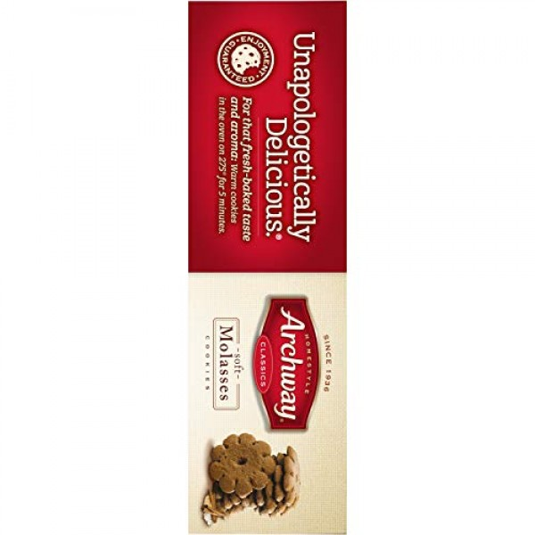 Archway Cookies, Molasses Classic Soft, 9.5 Ounce Pack of 9